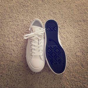 White leather Converse chucks
